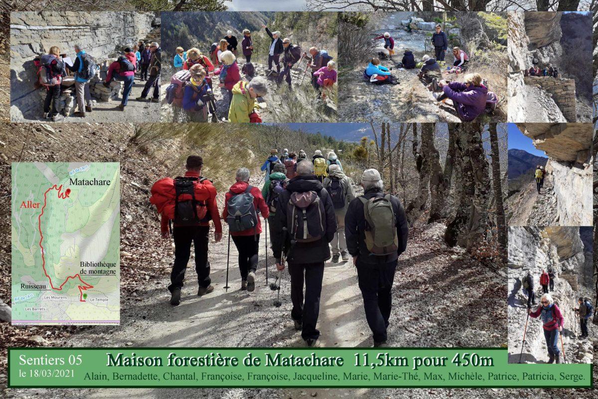Maison forestier de Matachare par le chemin des écoliers
