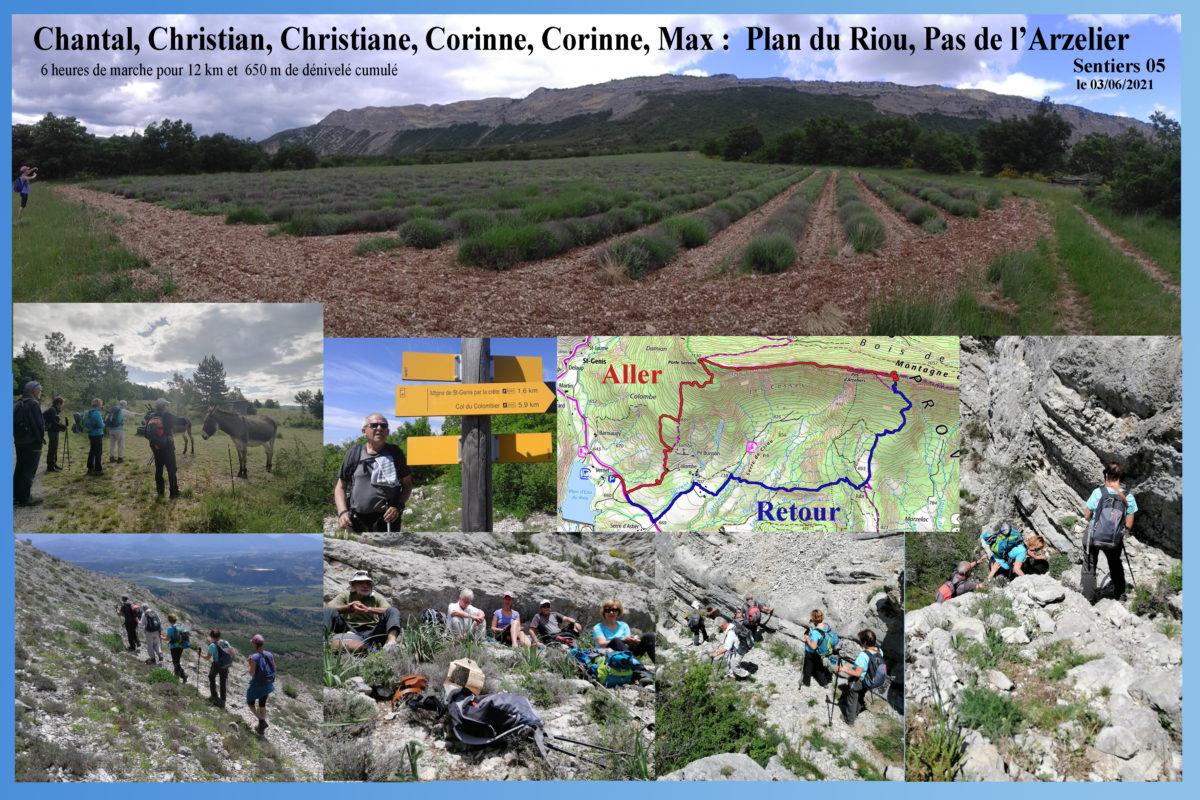 Plan du Riou / Porte Sereine / Pas de l'Arzelier / Jubi Ste Colombe / Plan du Riou